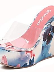 scarpe da donna open toe sandali zeppa scarpe più colori disponibili