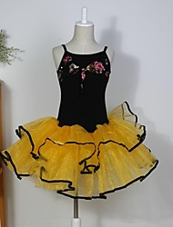 Ballet Dance Dancewear Kids' Chiffon/Spandex Ballet Dance Dress