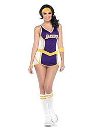 Cheerleader Costumes Women's Fashion Sleeveless Dance Performance Dress with Socks&Headband