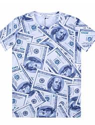 Informell Rund - Kurzarm - MEN - T-Shirts ( Baumwolle )