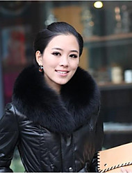 XT Women's Fuax Fox Fur Solid Color Scarf