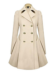 Women's Talior Collar Slim Pleated Trench Coat