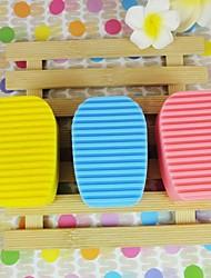 brosses lourds de droits de silicone pour animaux de compagnie (couleurs assorties)