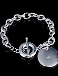 Women's Fashion Bubble Silver Plated Charm Bracelet