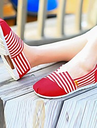 Women's Spring / Summer / Fall Comfort / Round Toe Canvas Office & Career / Dress / Casual Flat Heel Red / Navy