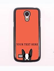 caso de telefone personalizado - cão caso design de metal para Samsung Galaxy S4