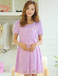 Maternity summer Korean fashion elegant dress dress pregnant women
