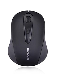 ICRAIG 800/1600DPI 2.4GHz Wireless Mouse with USB Nano Receiver for Desktop PC /Laptop /Notebook (Black)