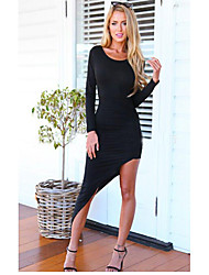 Hotgirl Women's Long Sleeve Asymmetrical Dress