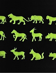Wall Stick Wall Decals, Animal Style Noctilucent Decorative PVC Wall Stickers(12 Pcs)
