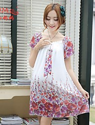 Summer Chiffon Korean fashion new loose Chiffon Dress Dress pregnant women dress big code pregnant women dress