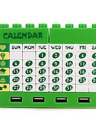 l'extension créative prise hub USB avec des blocs et calendrier