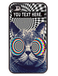 Personalized Case Cat Design Metal Case for iPhone 4/4S