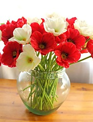 12pcs реального касания пвх мини мака Декоративные цветы свадьба свадебные букеты интерьер (больше цветов)