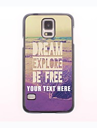 Personalized Phone Case - Dream Explore Be Free Design Metal Case for Samsung Galaxy S5 mini
