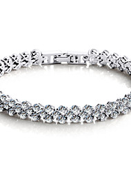 Femme Chaînes & Bracelets Bracelets de tennis Mode Bijoux de Luxe bijoux de fantaisie Argent sterling Cristal Zircon Amour Bijoux Pour