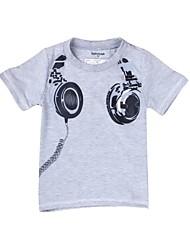 Tee-shirts Boy Imprimé Hiver / Printemps / Automne Mélange de Coton