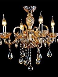 4-light The style of palace Glass Chandelier With Candle Bulb