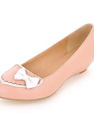 женская обувь Круглый носок пятки клина насосов ботинок больше имеющихся цветов