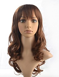 Capless Synthetic Medium Length Hair Wig with Full Bang