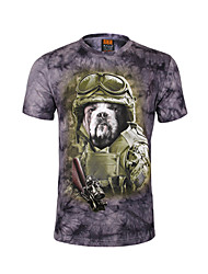 CITYSALLOR Men's Fashion 3D Printing Short Sleeve T-Shirt
