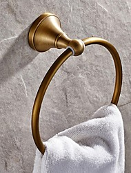 Towel Ring Antique Brass Wall Mounted 185*73mm(7.28*2.87inch) Brass Antique