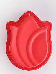 Flower Shape Cake Molds,Silicone 13.7×10.4×3.5 CM(5.4×4.1×1.4 INCH)