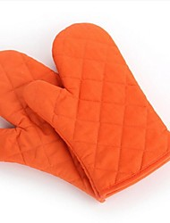 Cotton Kitchen Cooking Microwave Oven Gloves Mitts Pot Pad Heat Proof Protected
