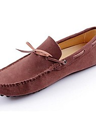Men's Shoes Casual Leather Boat Shoes Brown/Green/Gray/Navy
