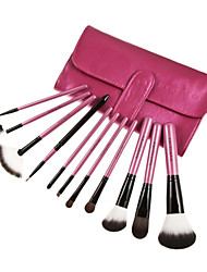 11 Makeup Brushes Set Goat Hair / Nylon / Pony / Synthetic Hair / Others Others