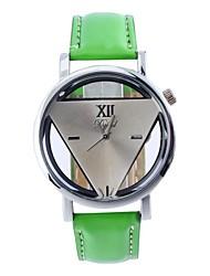 cinto de couro das mulheres são relógio da correia circular movimento chinês oca (cores sortidas) triangulares