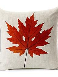 cara engraçada folha de bordo algodão / fronha decorativo linho