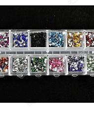 2500PCS 2mm Pentagram acrylic diamond Nail Art Decoration