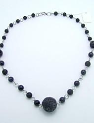 Kugel Lava Perlen-Anhängerhalsketten