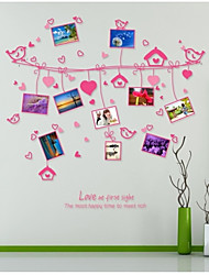 Wall Stickers Wall Decals, Style Love Rope Photo Wall PVC Wall Stickers