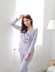 Bearsland Maternity Bear Pattern Pregnant Sleepwear Sets Tops with Pants Cute Japanese Korean Pajama Nursing Wear
