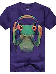 Herren-Rundhalsausschnitt Mode Eidechse Tier 3d gedruckt Kurzarm-T-Shirt