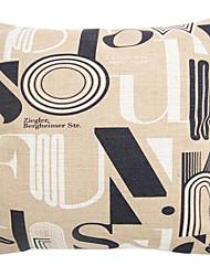 """createforlife® 18 """"rétro arts caractères gras coussin décoratif linge de coton carré"""