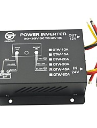 Vehicle Car DC 24V to 12V 45A Power Supply Transformer Converter-Black