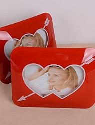 Dupla corações 3d photo frame vermelho
