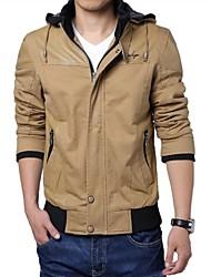 costura moda além de veludo com capuz jaqueta de homens