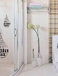 Wall Sticker Wall Decals, Letter Water Droplets Waterproof Bathroom Stickers