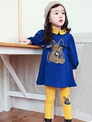 coelho moda bebê manga longa conjuntos de roupas de menina