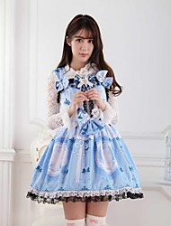 Blue  Sweet  Lolita Princess Butterflies Cats Princess  Dress  Lovely Cosplay