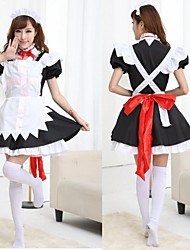 poliéster sweet girl uniforme da empregada doméstica mulheres trajes de Halloween