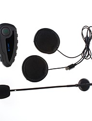 V8 1200M 5-Rider Motorcycle Helmet Intercom Bluetooth Headset w/ Remote Controller / NFC Function