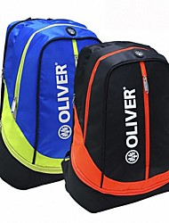 preto + laranja / azul + amarelo terylene lazer mochila