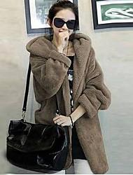 Women's Outwear  Winter Cheap  Plus Size Fashion Faux Fur Coat