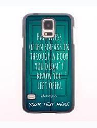 personalisierte Telefon-Fall - Tür-Design Metallgehäuse für Samsung-Galaxie s5 Mini