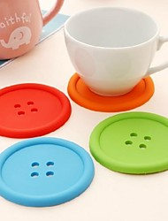 1 PCS Silicone Round Coasters